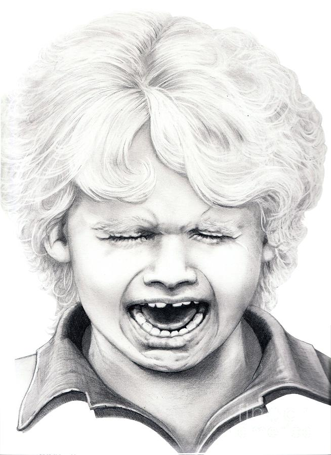 Drawing Of A Child Cry...