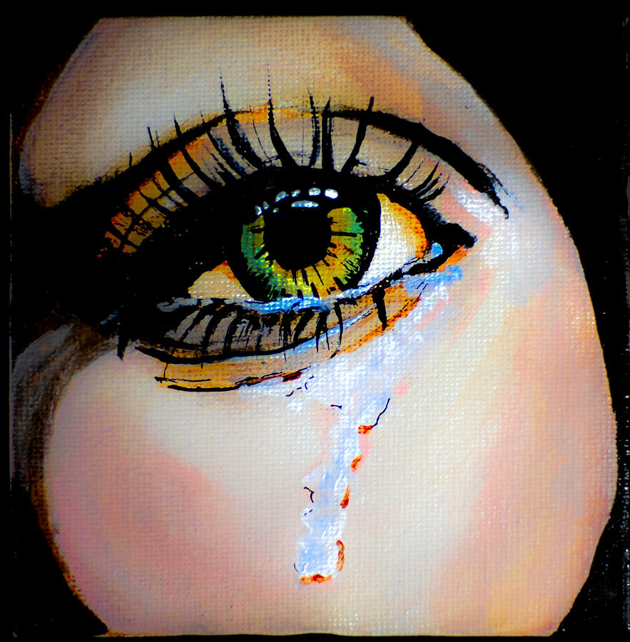 Eye Painting - Crying Eye 2 by Chris  Leon