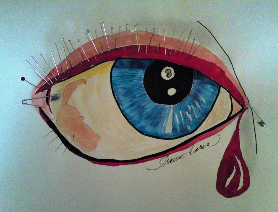 Eyes Crying Painting Crying Eye Painting