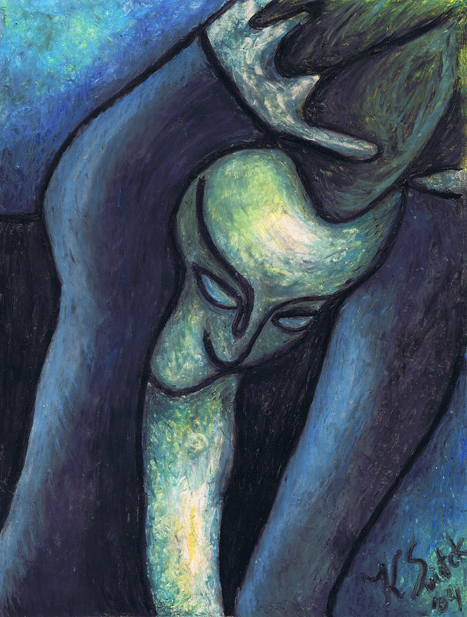 Crying Woman Painting  - Crying Woman Fine Art Print