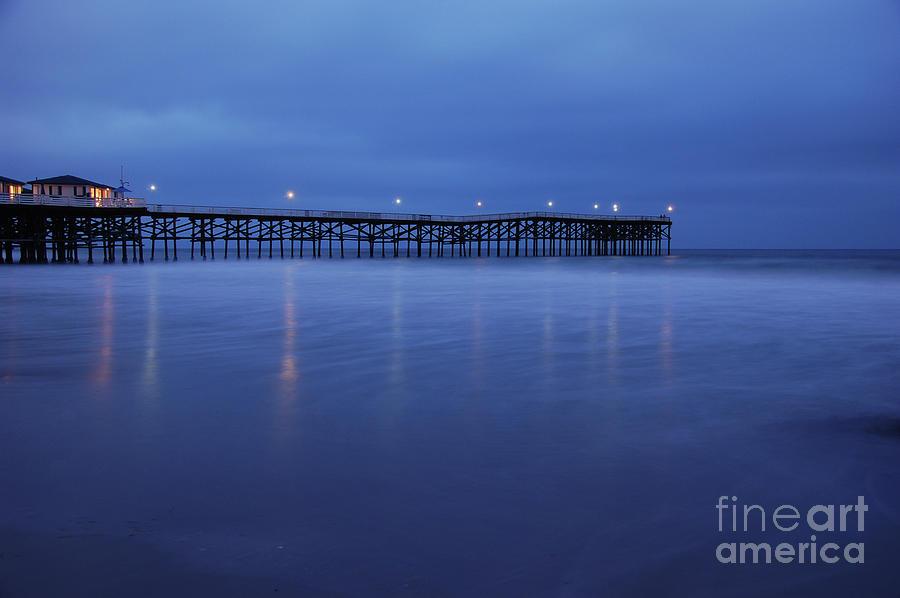 Crystal Pier Blue Photograph  - Crystal Pier Blue Fine Art Print