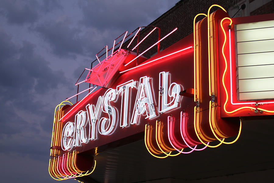 Crystal Theater Neon Photograph  - Crystal Theater Neon Fine Art Print