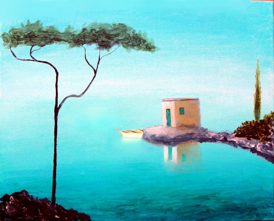 Crystal Waters On The Mediterranean Painting