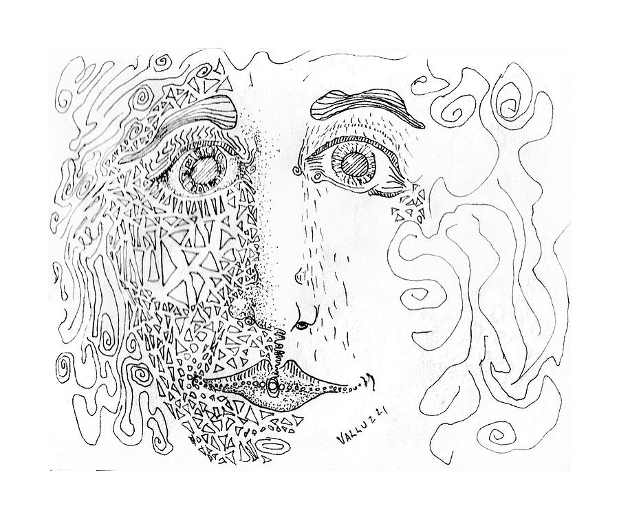 Crystalline Gaze Drawing  - Crystalline Gaze Fine Art Print