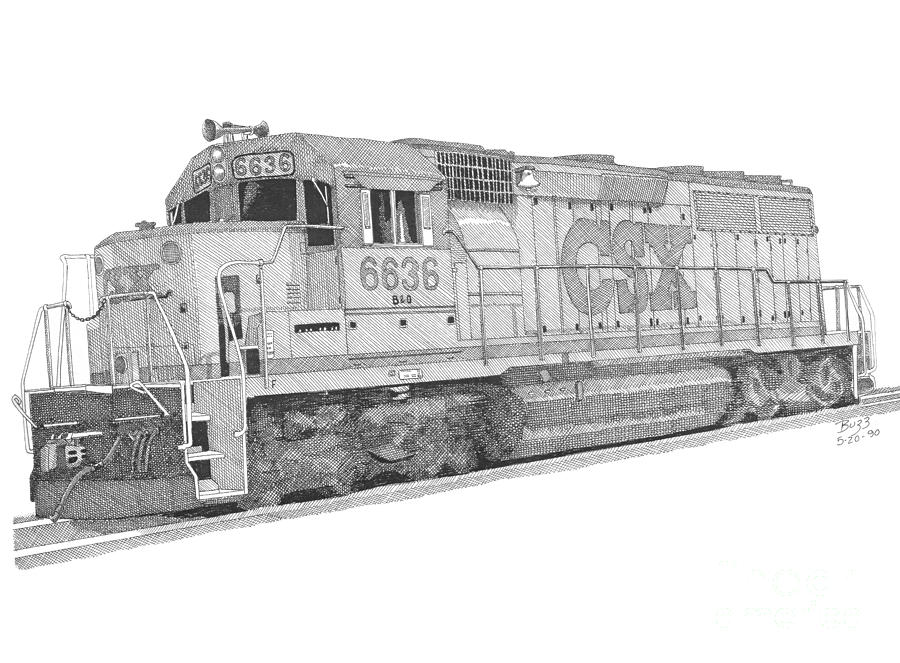 Csx Diesel Locomotive by Calvert Koerber