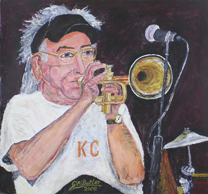 Cuff Billett On Trumpet Painting
