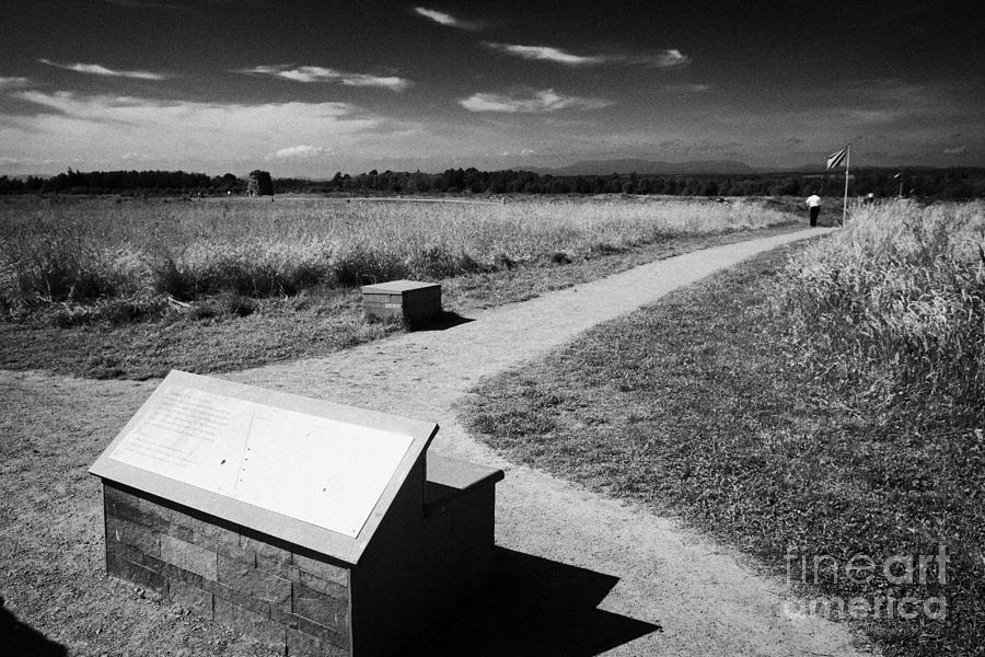 Culloden Photograph - Culloden Moor Battlefield Site Highlands Scotland by Joe Fox