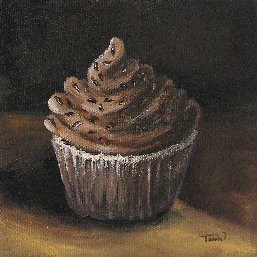 Chocolate Painting - Cupcake 003 by Torrie Smiley