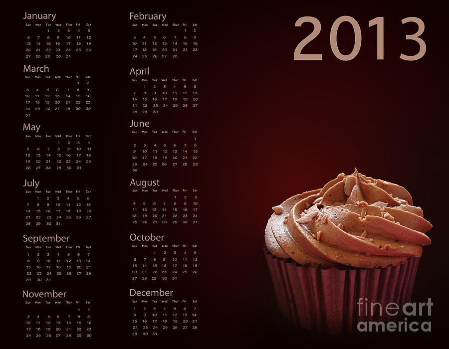 Cupcake Calendar 2013 Photograph
