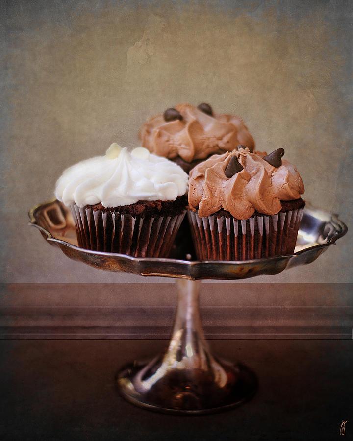 Bake Photograph - Cupcake Trio by Jai Johnson