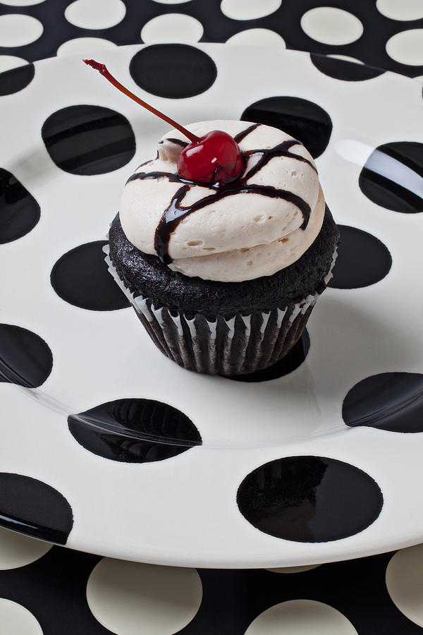 Cupcake Photograph - Cupcake With Cherry by Garry Gay