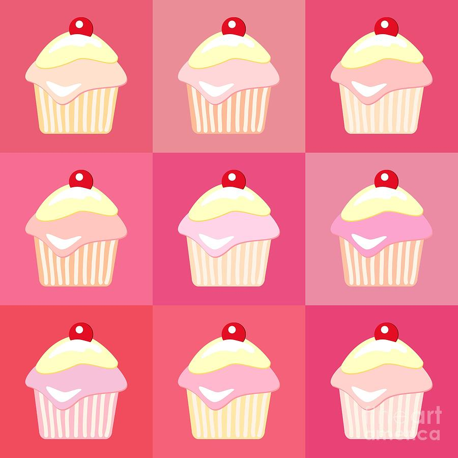 Cupcakes Pop Art  Photograph  - Cupcakes Pop Art  Fine Art Print