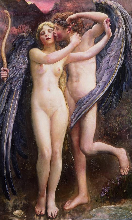 Cupid And Psyche Painting