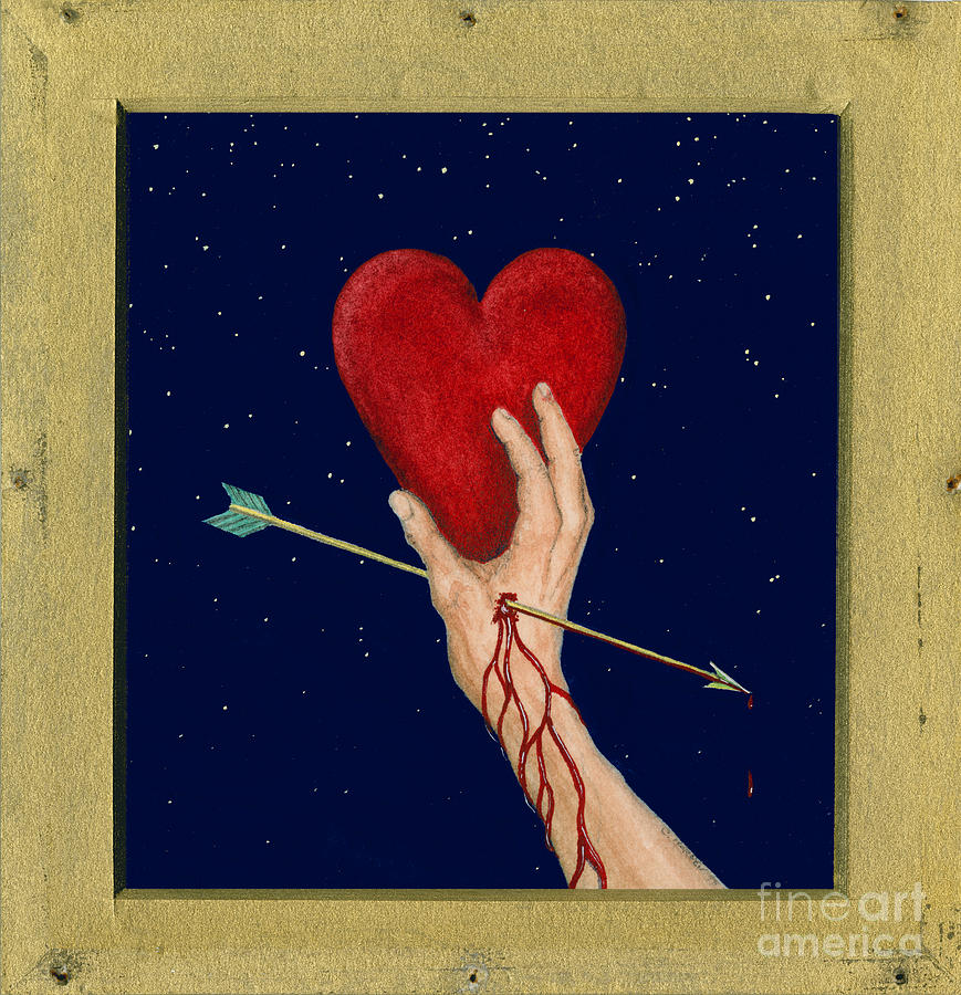 Cupids Arrow Painting  - Cupids Arrow Fine Art Print