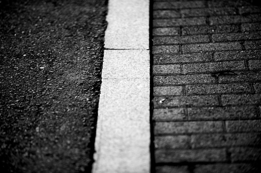 Street Photograph - Curb by Frank DiGiovanni