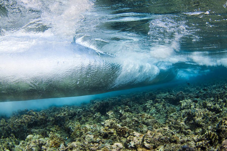 Curl Of Wave From Underwater Photograph