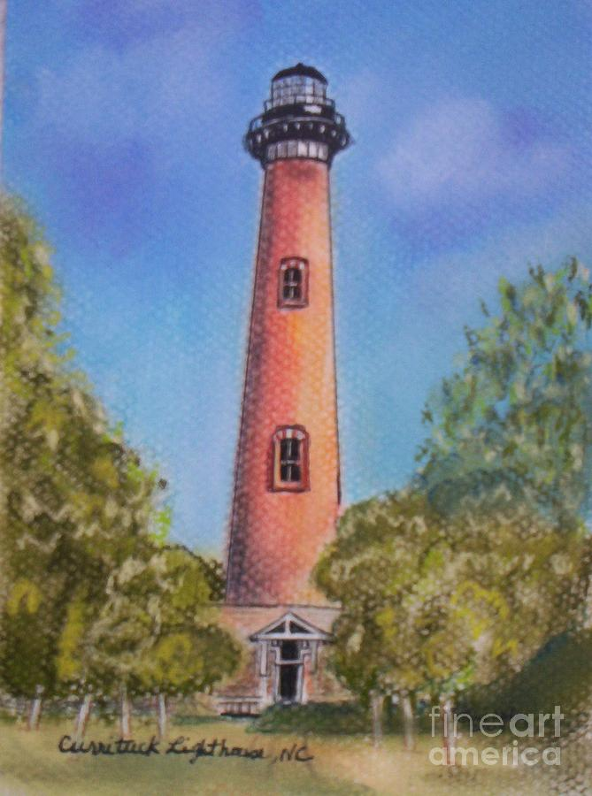 Currituck Lighthouse Nc Pastel  - Currituck Lighthouse Nc Fine Art Print