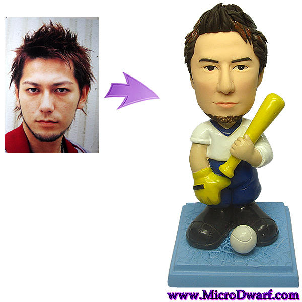 Custom Baseball Figurine From Your Photo Sculpture