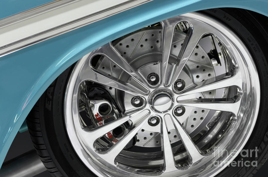 Custom Car Wheel Photograph