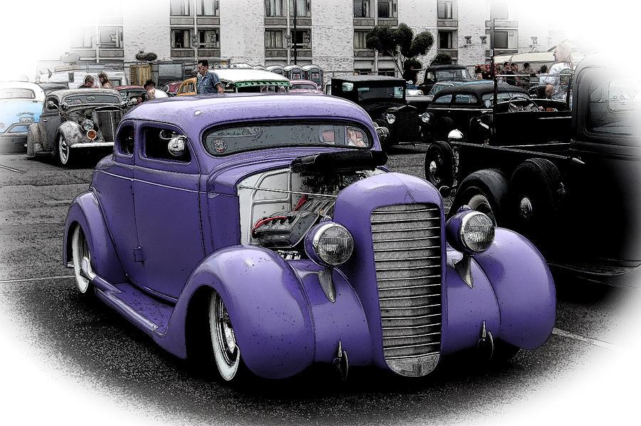 Custom Purple 35 Ford Photograph