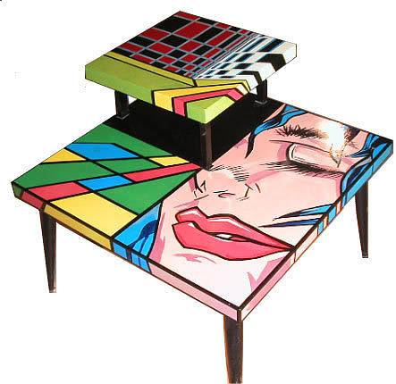 Jordan Robert Fine Art Painting - Custom Table by Jordan  Robert