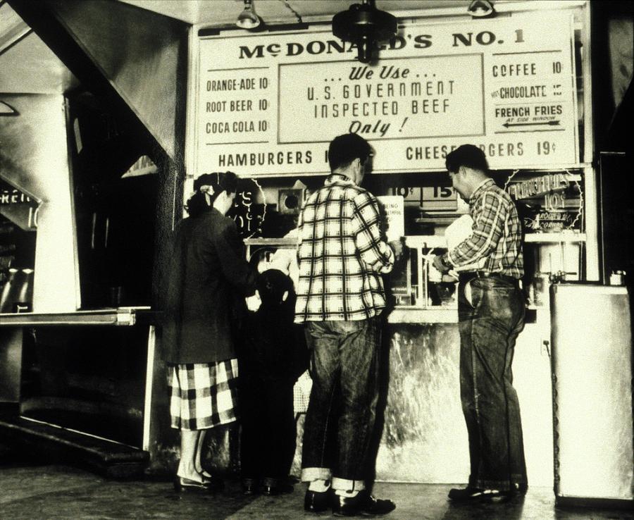 Customers At The Mcdonalds Hamburger Photograph