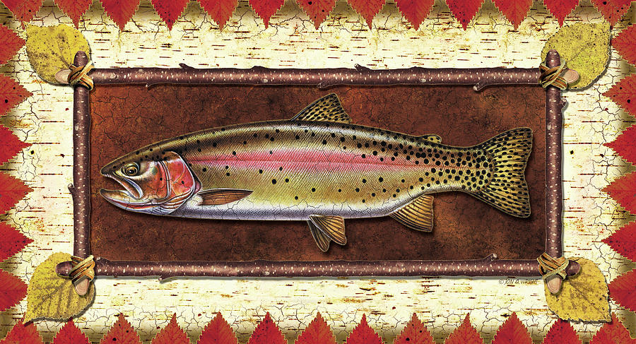 Cutthroat Trout Lodge Painting