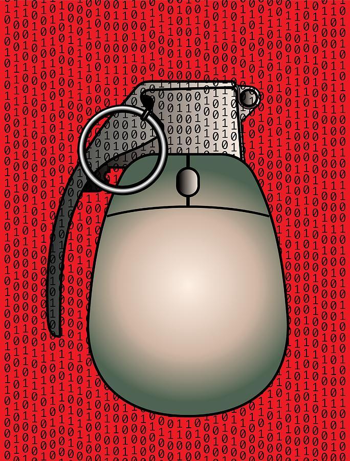 Cyber Warfare, Conceptual Artwork Photograph