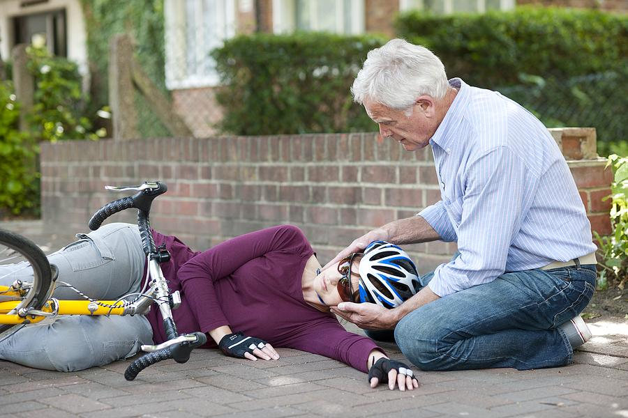 Cycling Accident Photograph  - Cycling Accident Fine Art Print