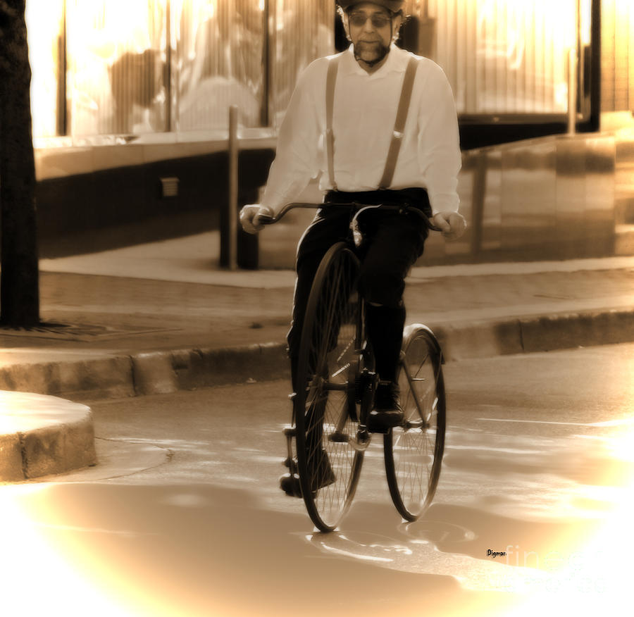 Cycling From Vintage Past  Photograph  - Cycling From Vintage Past  Fine Art Print