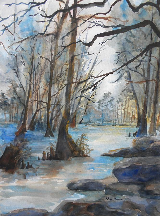 Cypress Knees Painting