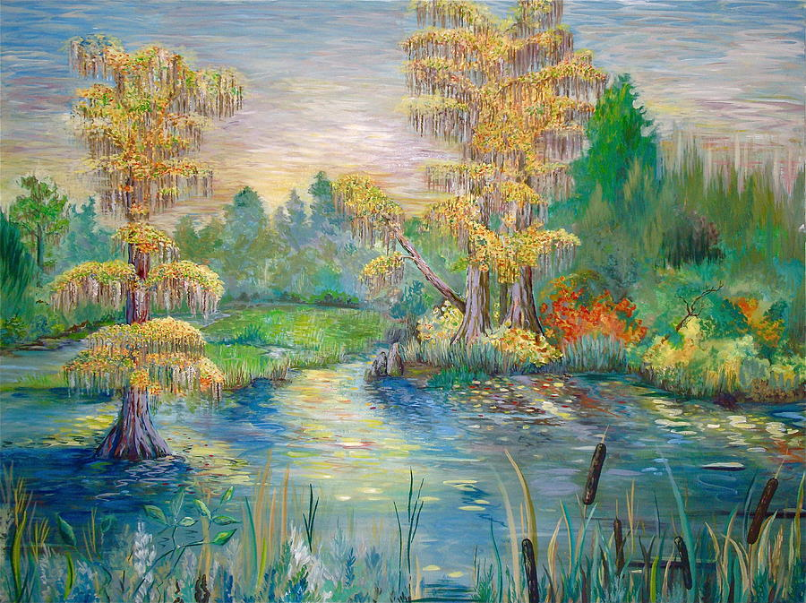 Cypress Lake Painting  - Cypress Lake Fine Art Print