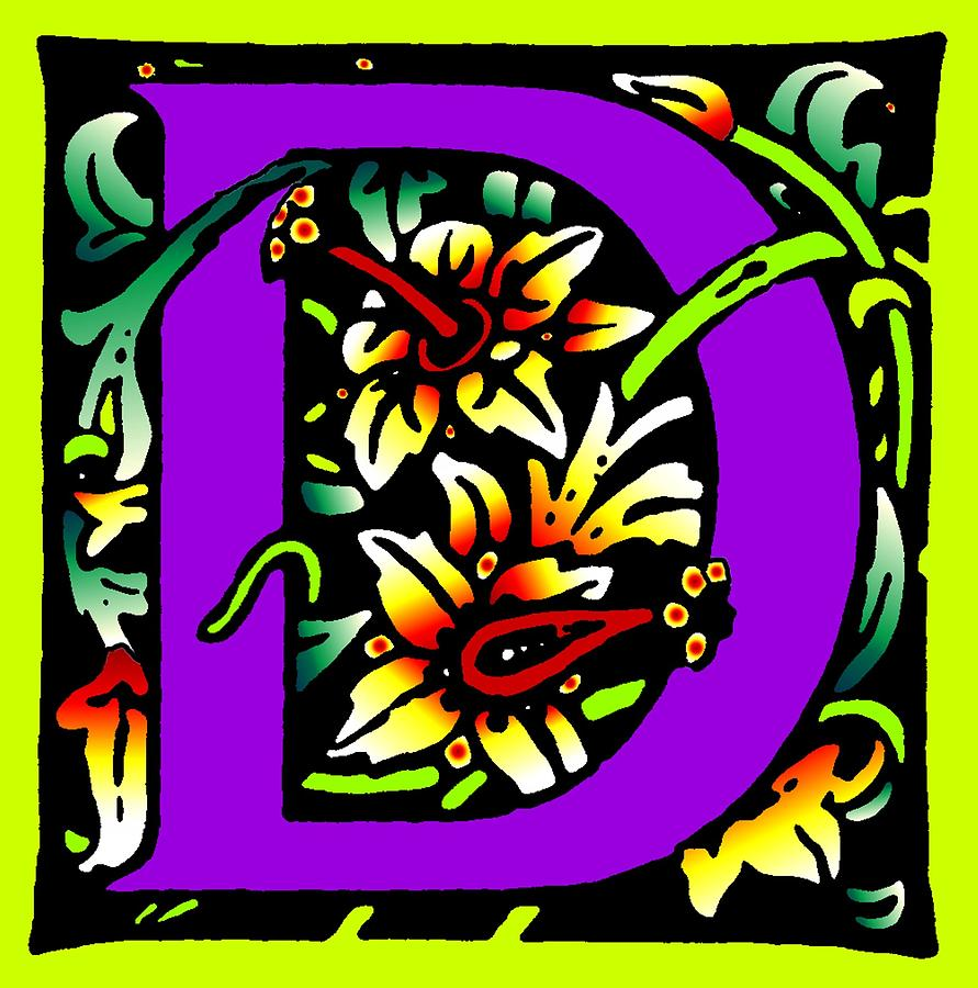 D In Purple Digital Art