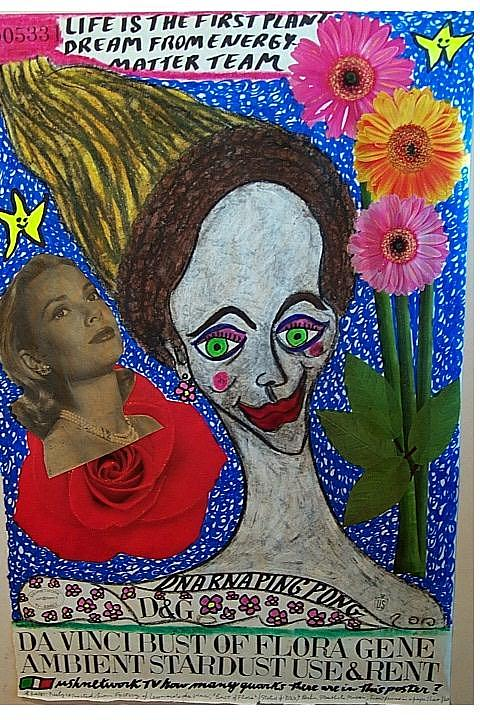 Da Vinci Bust Of Flora Gene Ambient Stardust Use And Rent Mixed Media