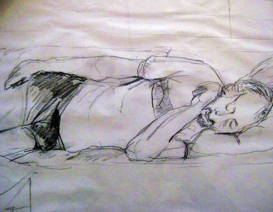 Dad Sleeping Drawing