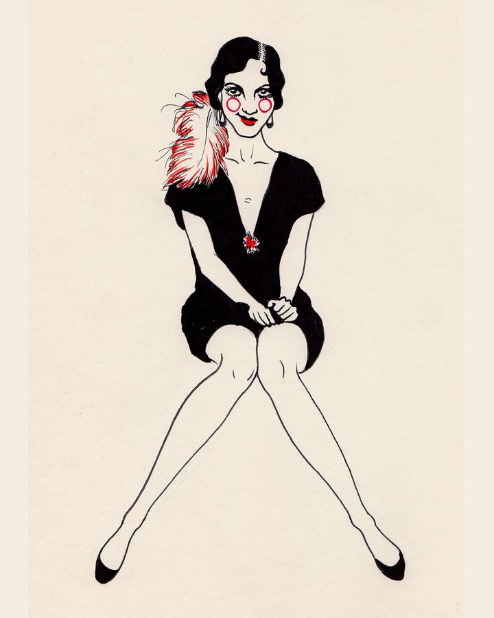 Daisy Drawing - Daisy by Lauren Busiere