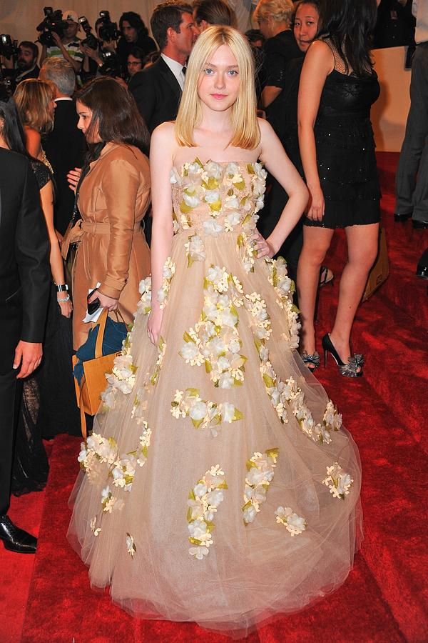 Dakota Fanning Wearing A Dress Photograph  - Dakota Fanning Wearing A Dress Fine Art Print