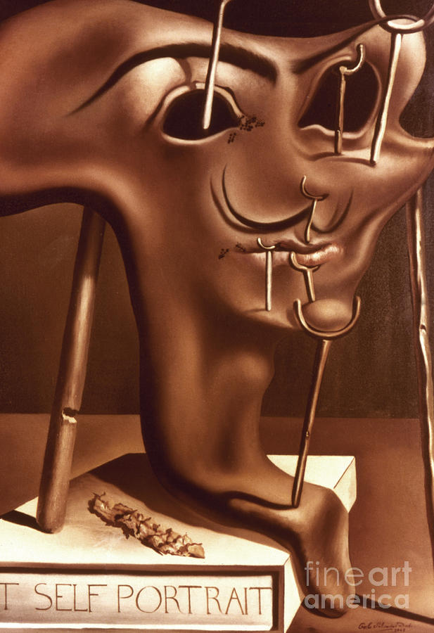 Dali: Self-portrait, 1941 Photograph