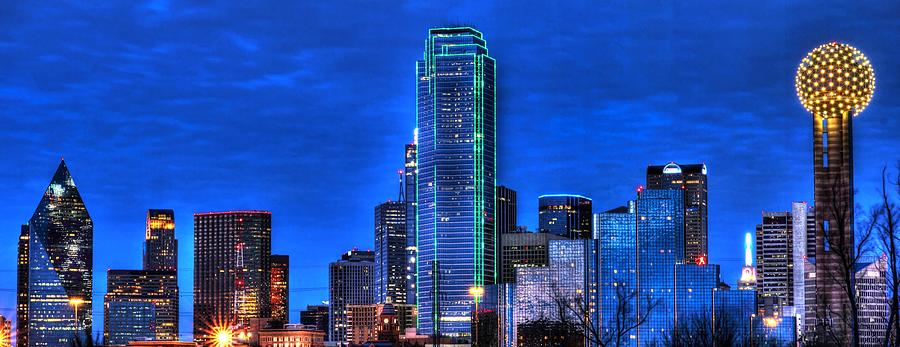 Dallas Skyline Hd Photograph  - Dallas Skyline Hd Fine Art Print