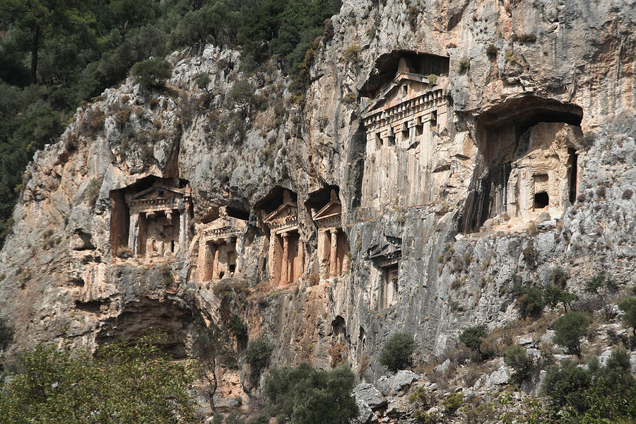 Dalyan Rock Tombs Turkey Photograph  - Dalyan Rock Tombs Turkey Fine Art Print