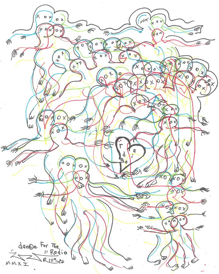 Dance For The Radio Drawing  - Dance For The Radio Fine Art Print