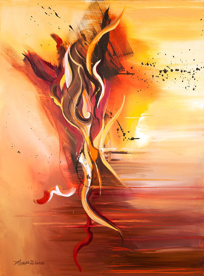 Dance Of Passion Painting  - Dance Of Passion Fine Art Print