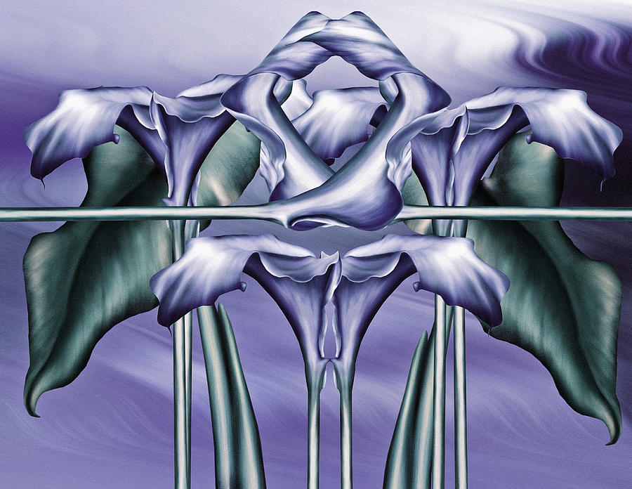 Dance Of The Blue Calla Lilies Iv Digital Art