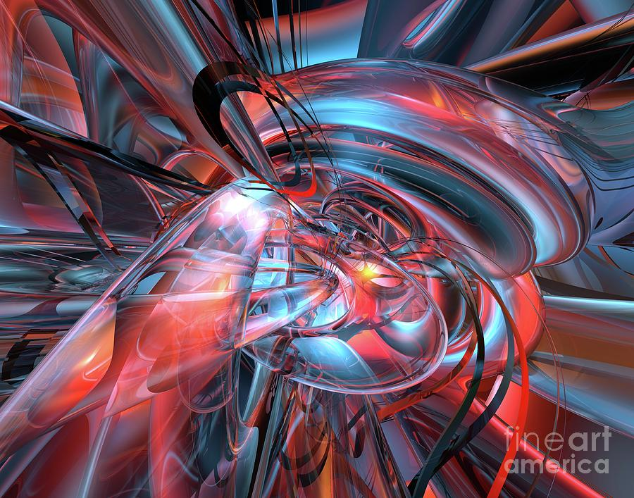 Dance Of The Glassmen Fx Digital Art  - Dance Of The Glassmen Fx Fine Art Print