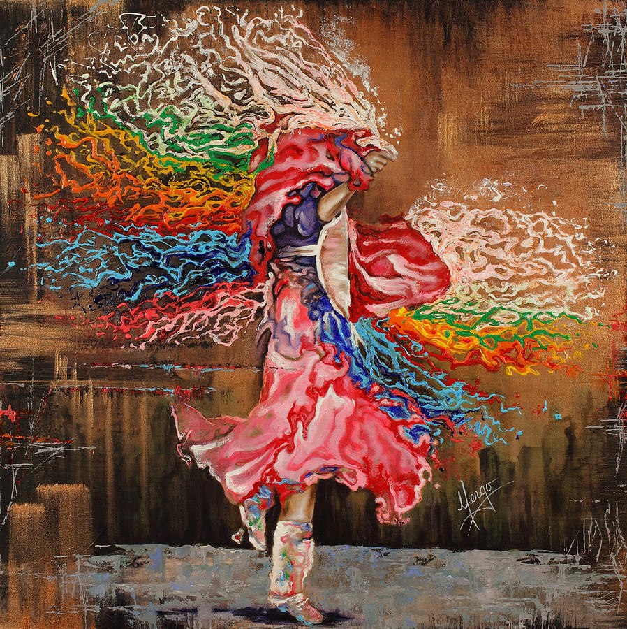 Dance Through The Color Of Life Painting  - Dance Through The Color Of Life Fine Art Print