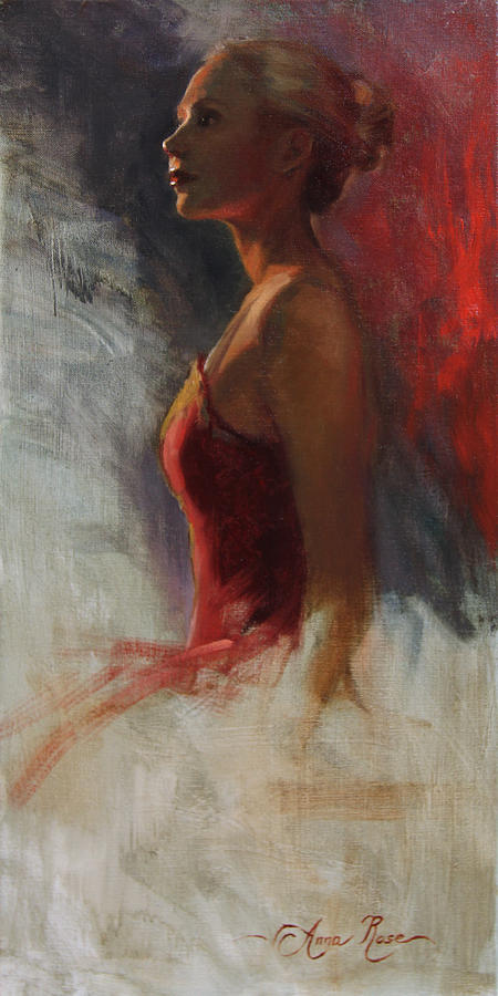 Dancer In Rim Lighting Painting