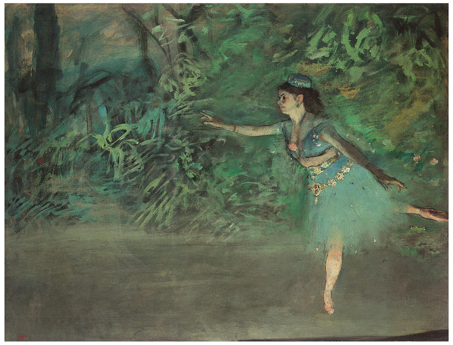 Dancer On The Stage Painting - Dancer On The Stage by Edgar Degas