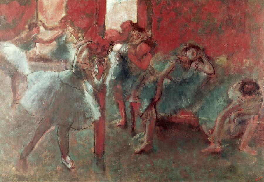 Dancers At Rehearsal Painting