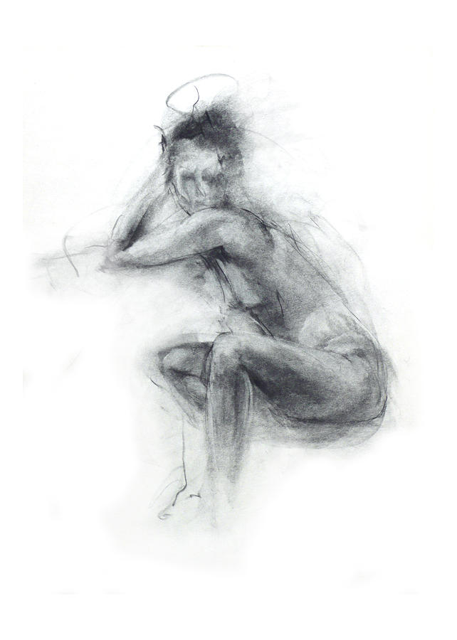 Dancers Gaze Drawing  - Dancers Gaze Fine Art Print