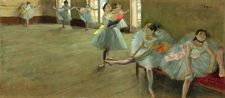 Dancers In The Classroom Painting  - Dancers In The Classroom Fine Art Print